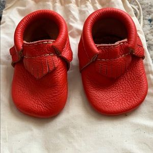Christmas Red Freshly Picked Moccasins
